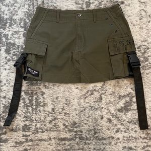 LF Green Buckle Skirt